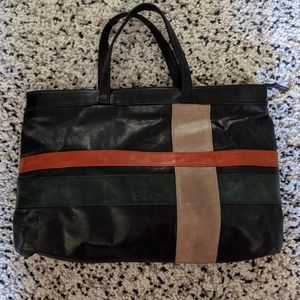 Black leather Lodis tote/satchel style bag